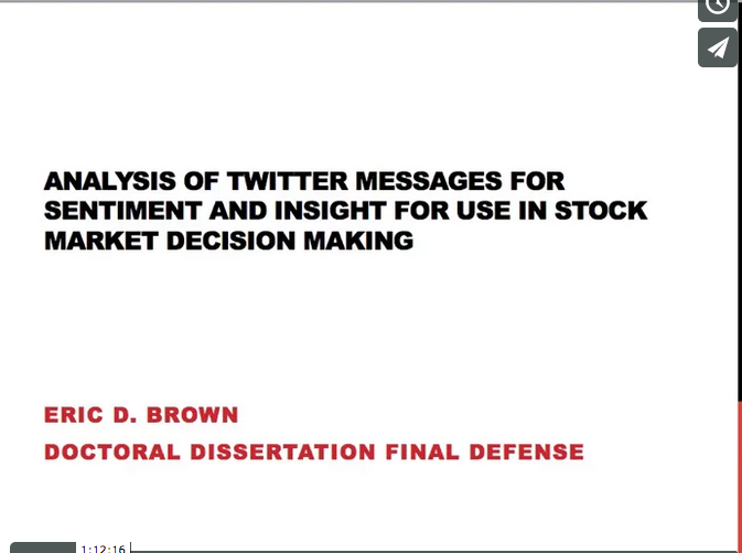Using Twitter Sentiment for Market Decisions