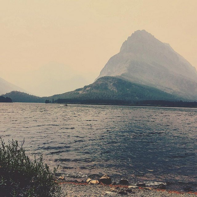 Fog over Swiftcurrent Lake - Glacier National Park