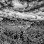 Glacier Valley under the clouds