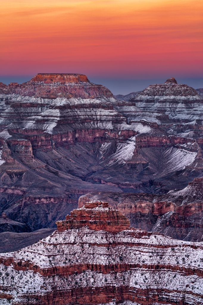 Sunsetting over the Grand Canyon